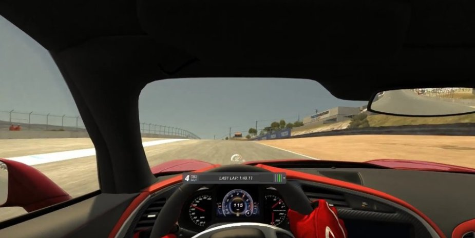 Corvette Stingray Video Game Footage Open View