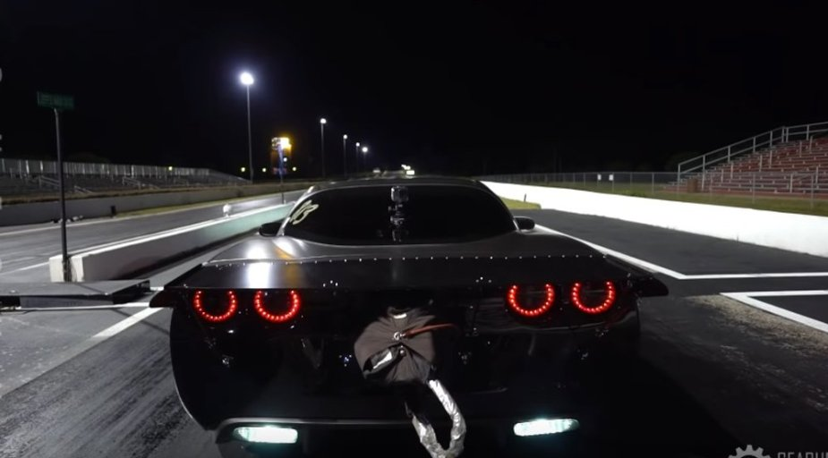 Twin Turbo Corvette Rear Launch