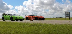 Corvette ZR1 Versus Lamborghini Huracan Front