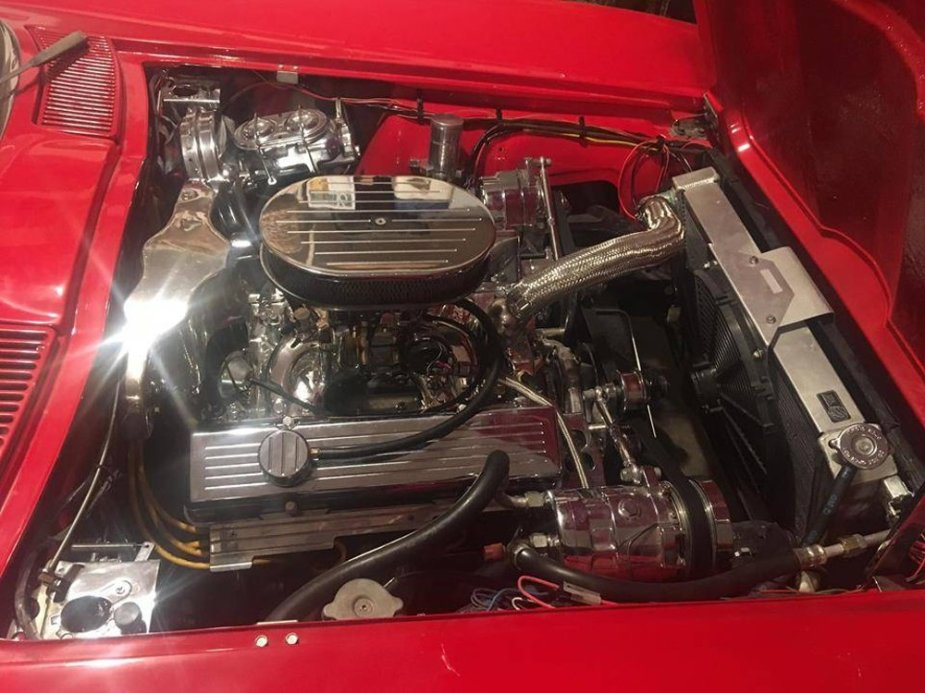 1963 Corvette Convertible Chrome Engine