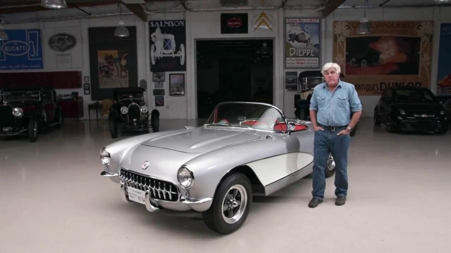 Jay Leno Shows Off His Favorite Ride 1957 Chevy Corvette