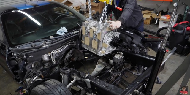 Rob Dahm Test Fits Mazda 13B Rotary into C5 Corvette Z06