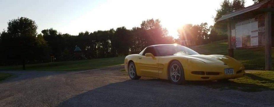 C5 Corvette Sunset