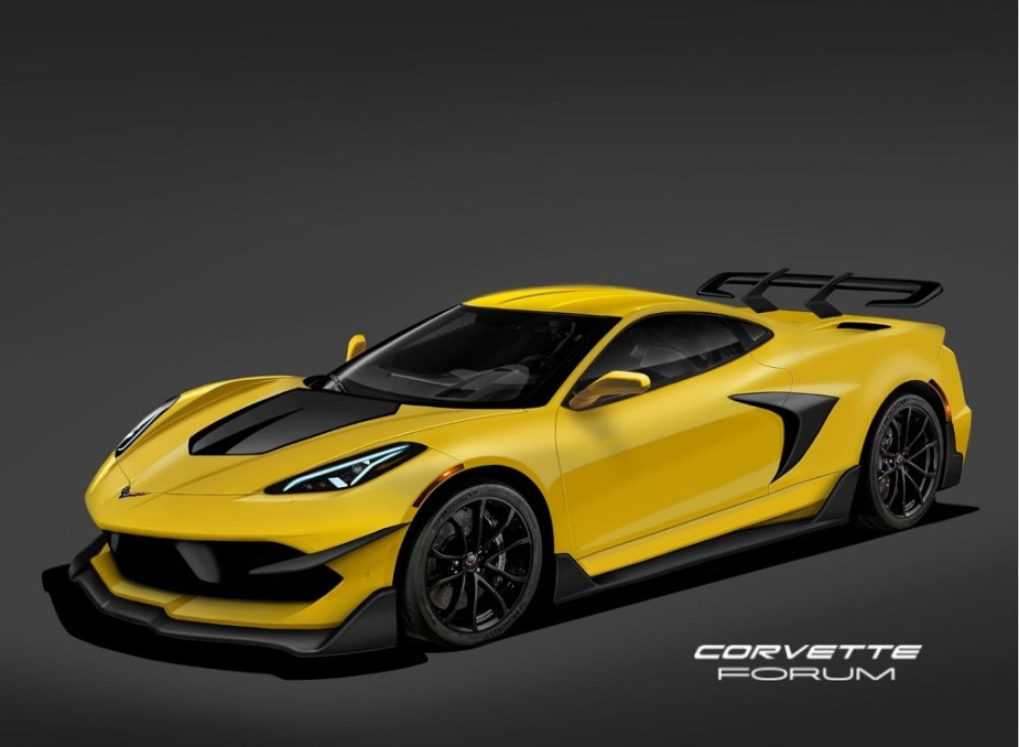 C8 Chevrolet Corvette Rendered in High Performance ZR1 Form