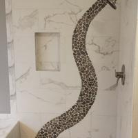 bathroom remodel with custom tile