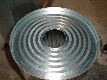 Hole cut for flue