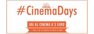 Cinemadays 2016, ritorna il cinema a 3 euro