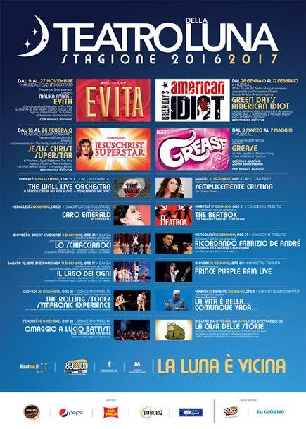 Il Teatro della Luna presenta il suo cartellone 2016/2017