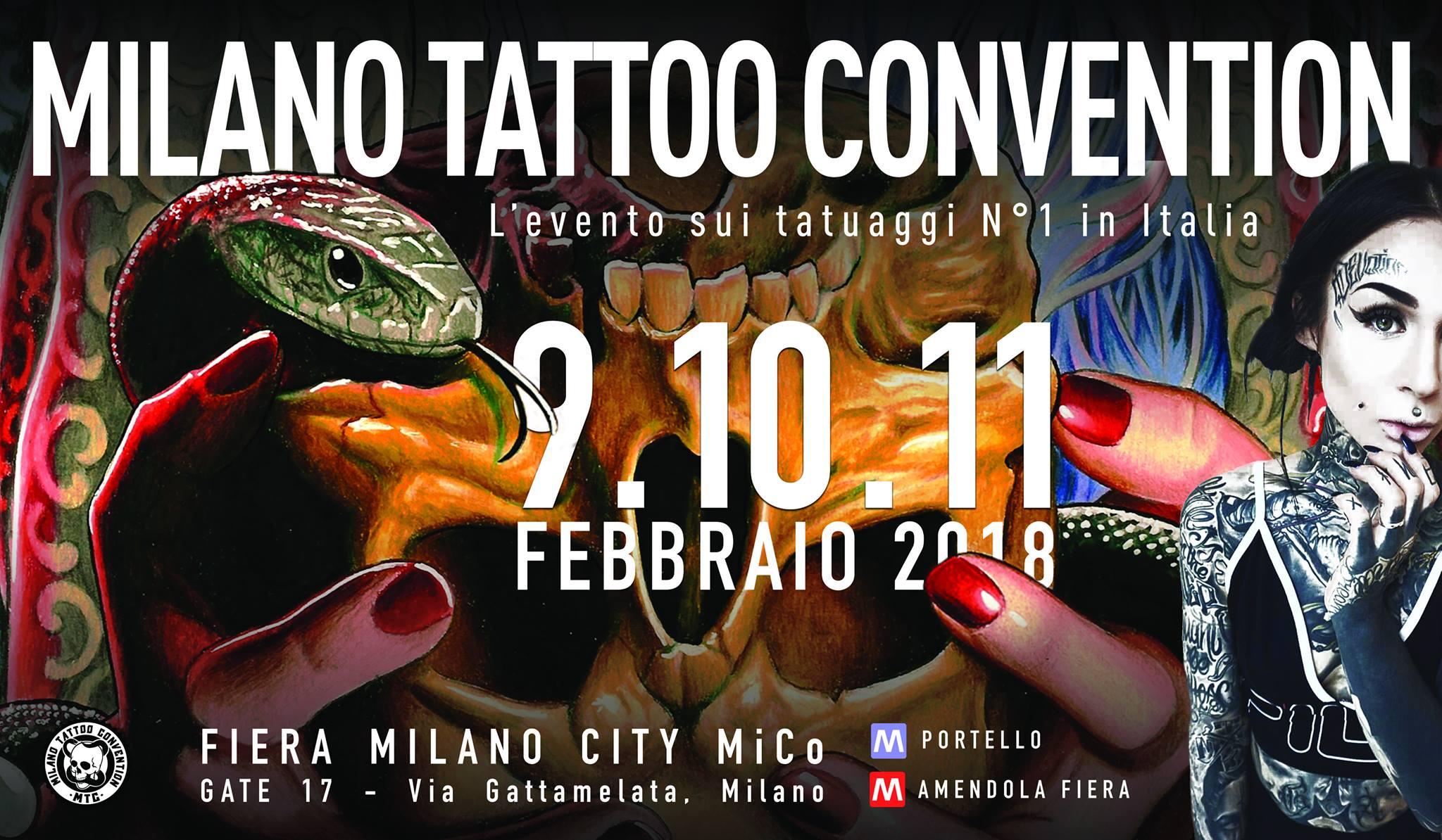 Milano Tattoo Convention 2018: 9-10-11 Febbraio