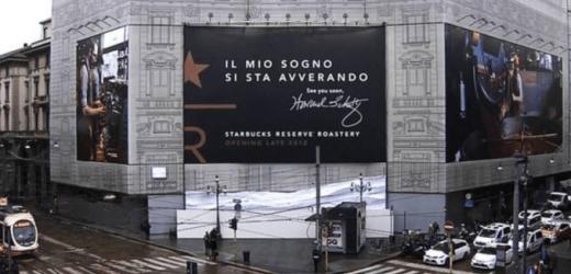 STARBUCKS: il punto vendita milanese sarà il più grande d'Europa e il primo in Italia.