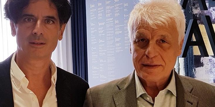 Michele Placido & Davide Cavuti al teatro delfino di milano