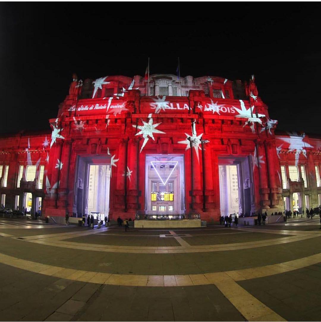 Le luci di Natale in Stazione Centrale 2018