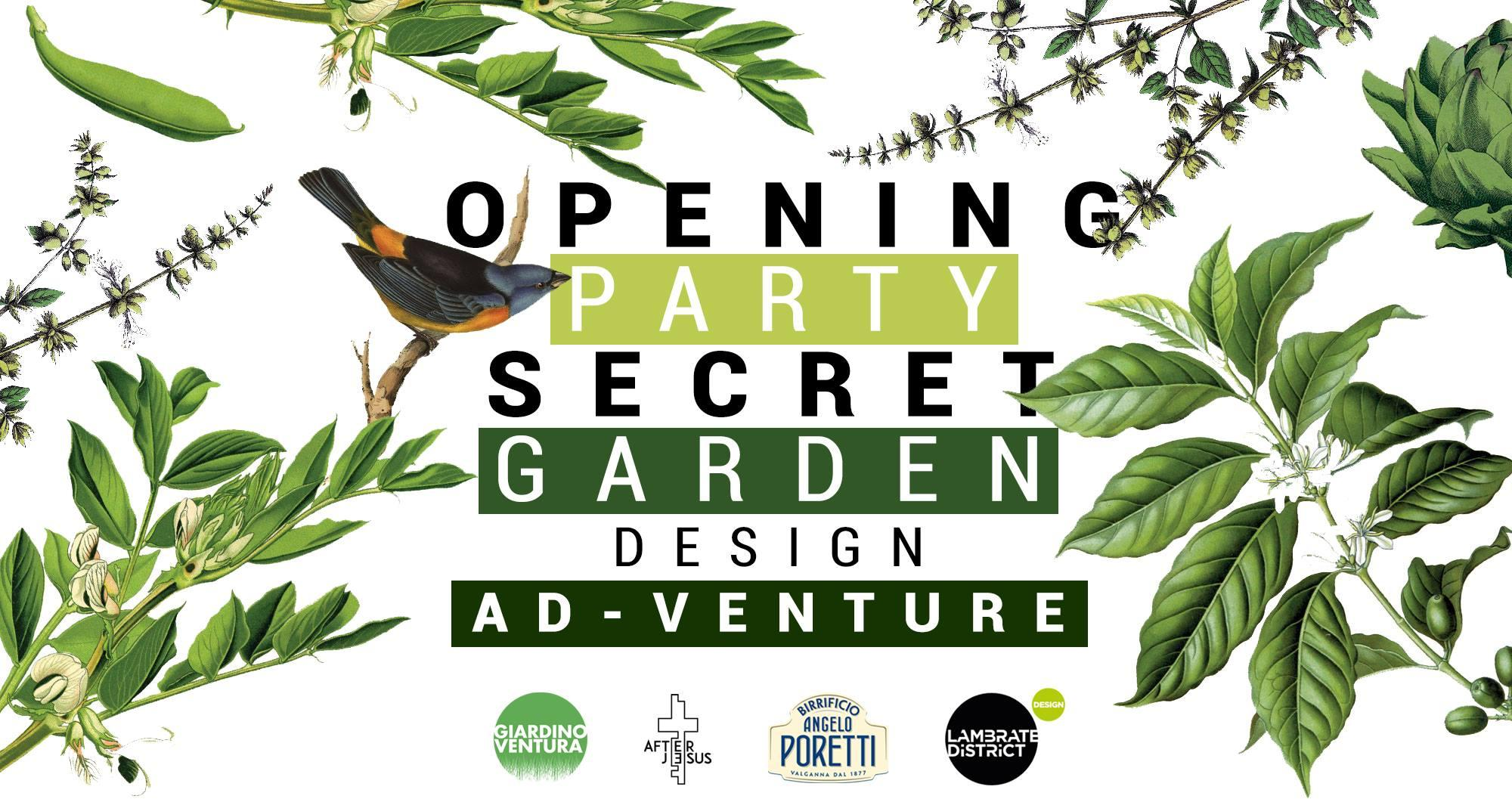 Fuorisalone 2019 : Opening Party Secret Garden