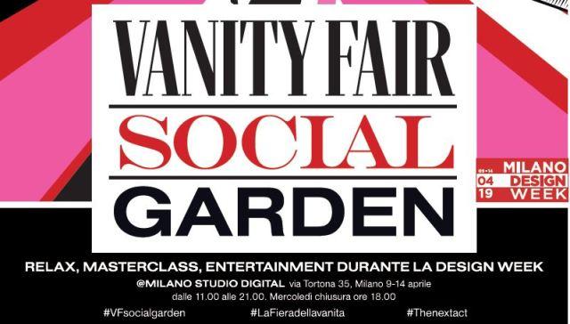 Design Week: Arriva il vanity fair social garden