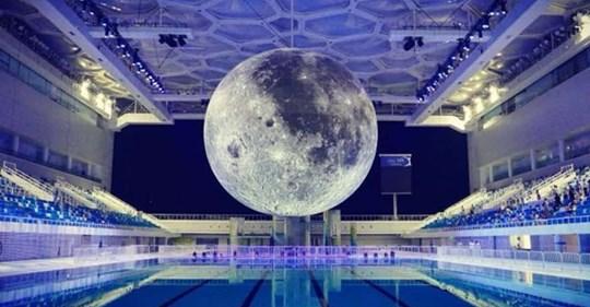 Luna in piscina Cozzi di viale Tunisia