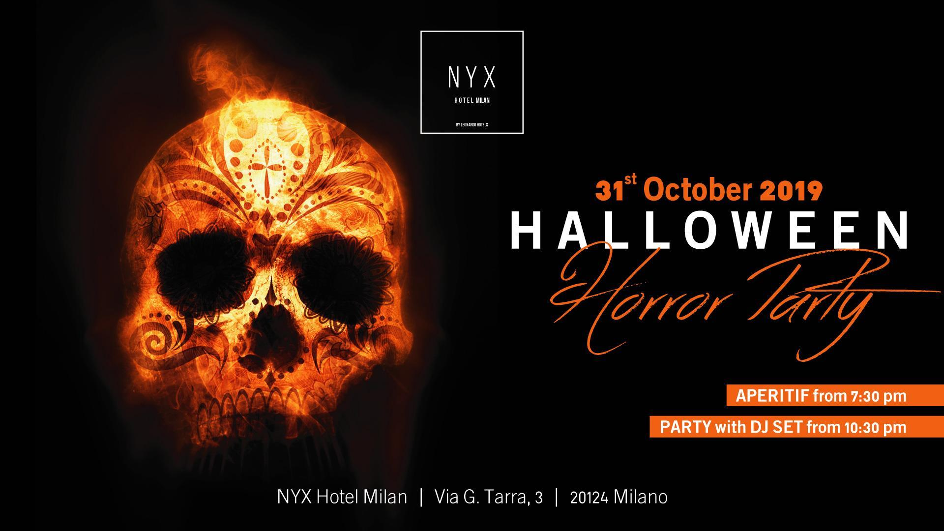 Halloween 2019 Milano – Hotel Nyx Horror Party