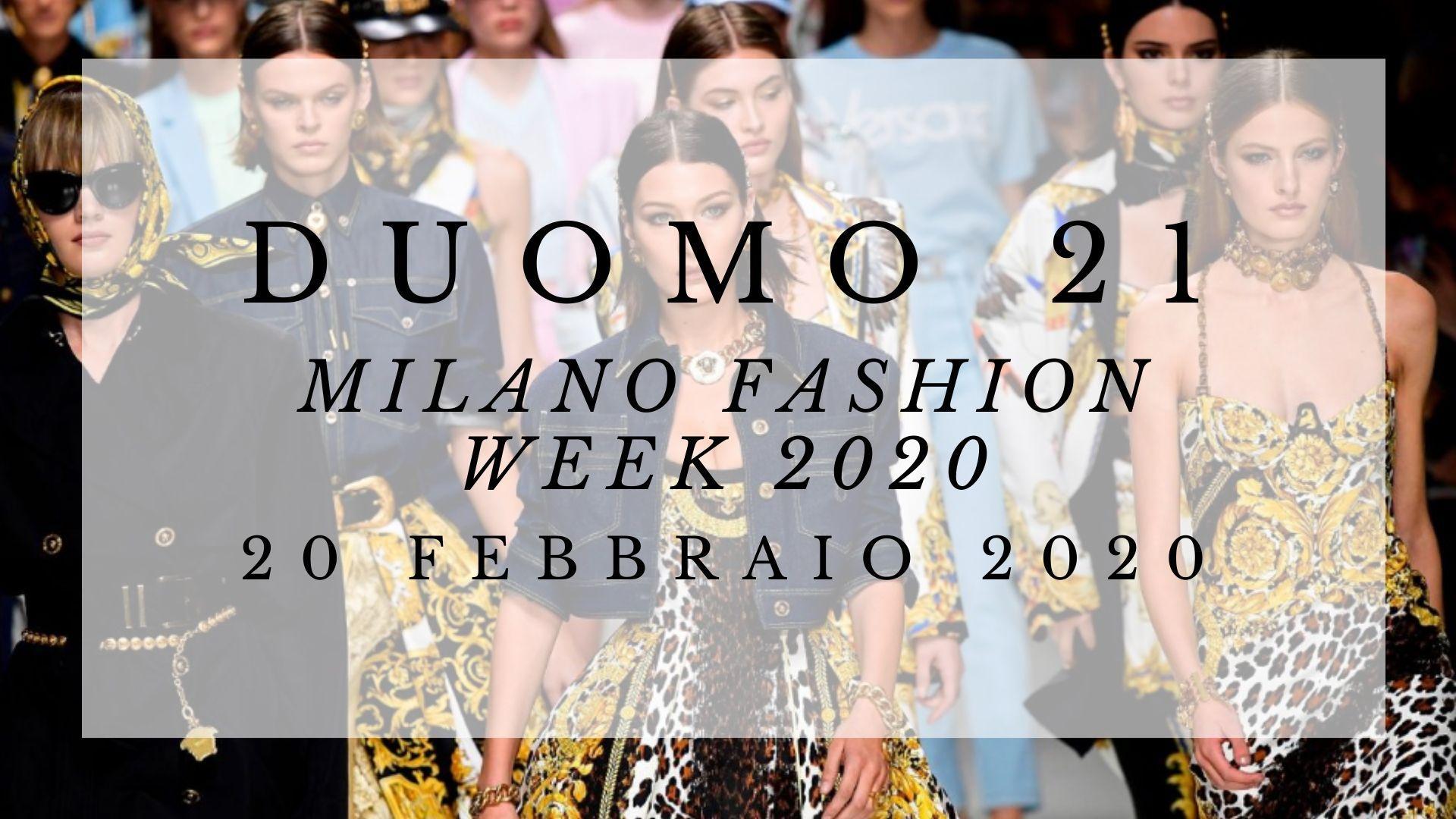CFM / Milano Fashion Week 2020 @TerrazzaDuomo21