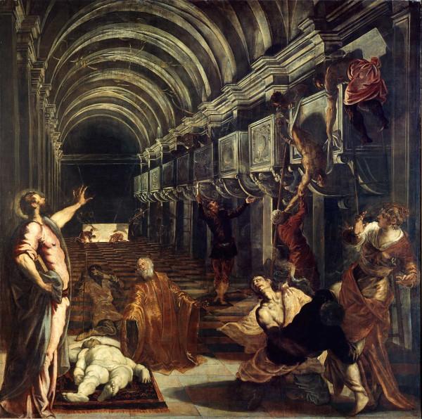 Tintoretto il ritrovamento del corpo di San Marco