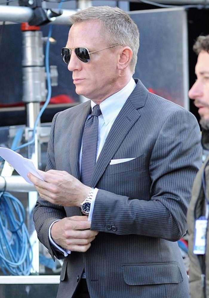 Daniel Craig con una cravatta Marinella - Cosamimettooggi