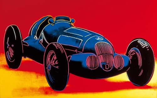El Mercedes-Benz W125 según Andy Warhol.
