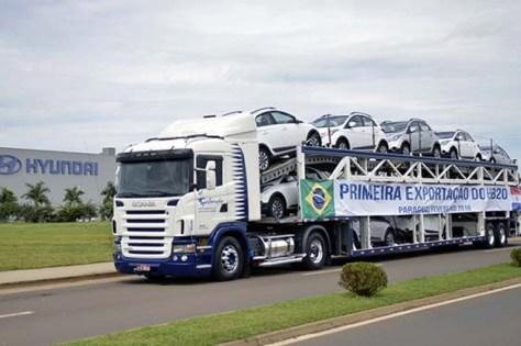 Hyundai HB20 exportación