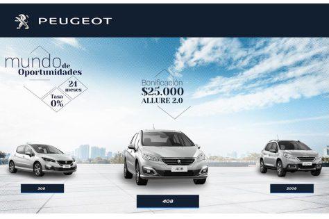 Durante septiembre, Peugeot extiende su financiación a tasa 0%