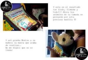 Ayuda a Entre agujas y patitas, realizada por una niña | Foto: http://entreagujasypatitas.blogspot.com