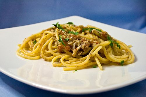 Gli spaghetti con i bianchetti, la ricetta di papà