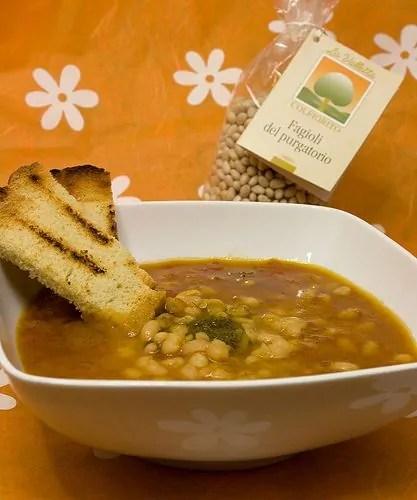 Zuppa paradisiaca con Fagioli del Purgatorio