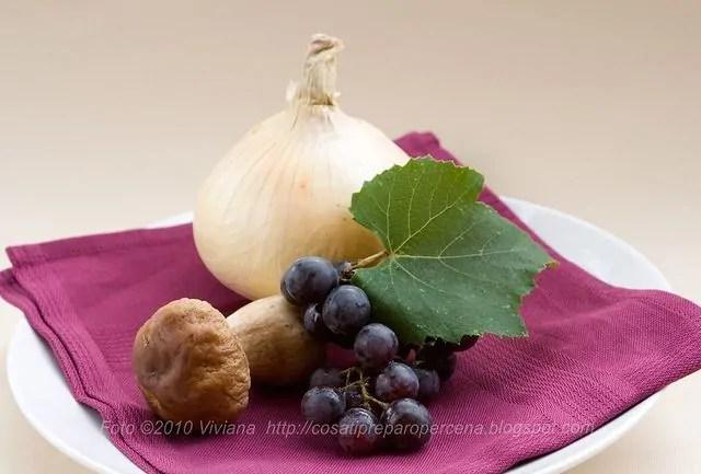 Risotto con uva fragola e porcini