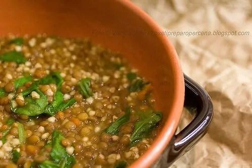 zuppa lenticchie e grano saraceno