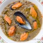 zuppa di lenticchie e cozze