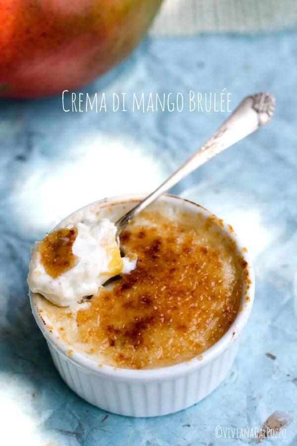 crema di mango brule cucchiaio