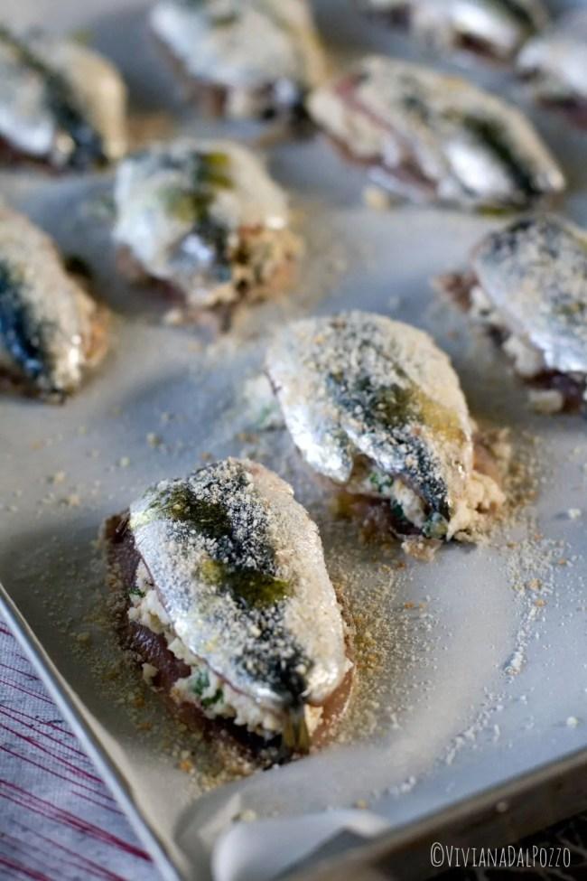 Sardine ripiene pronte per il forno