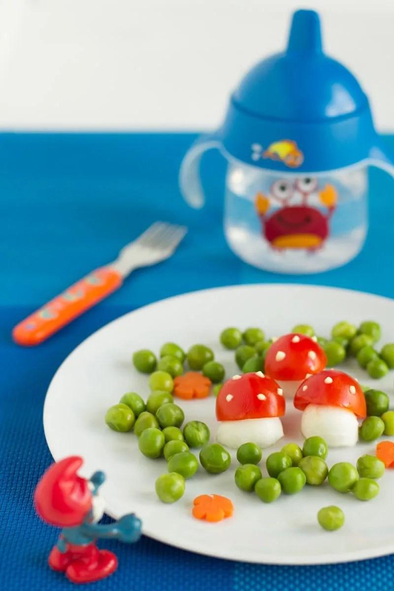 Funghetti nel prato per bimbi allegri