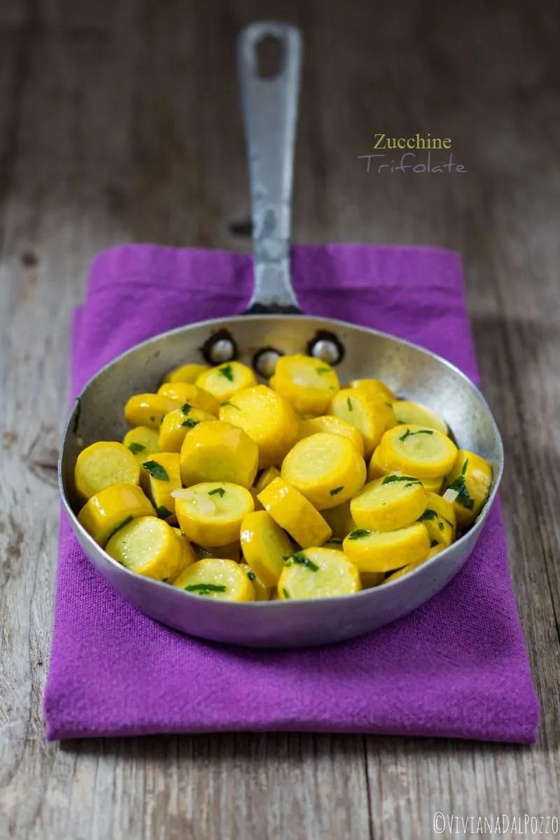 Zucchine trifolate cariche di Giallo.