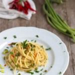 spaghetti talli d'aglio