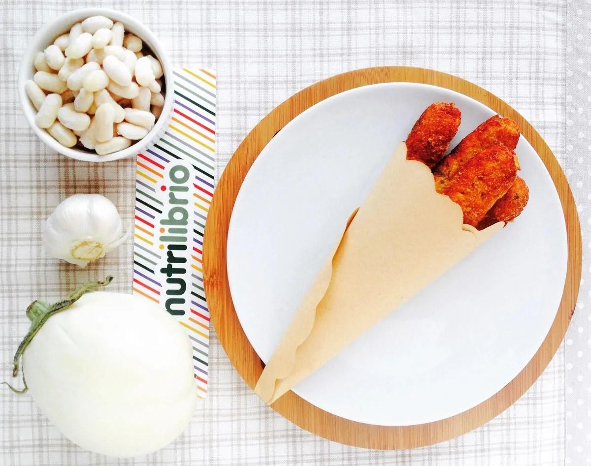 crocchette con melanzane bianche e fagioli cannellini