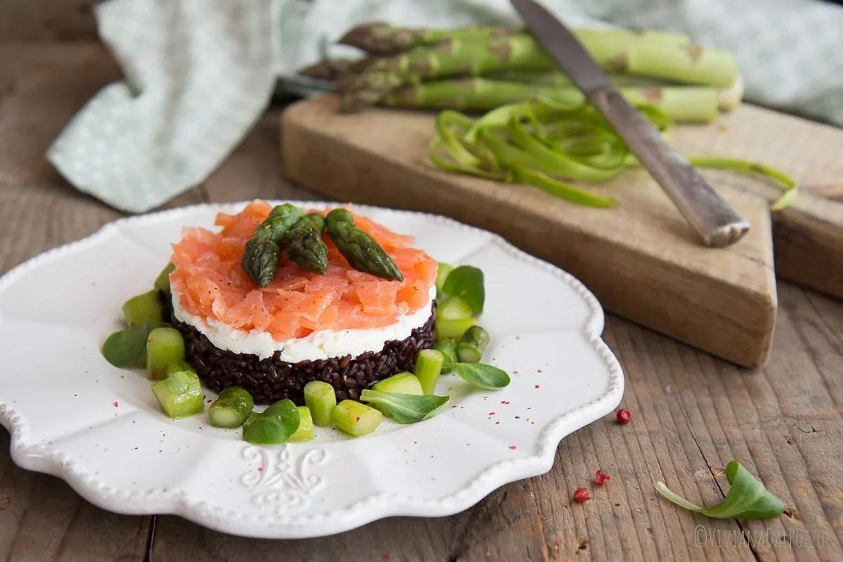 tartare di riso nero e salmone