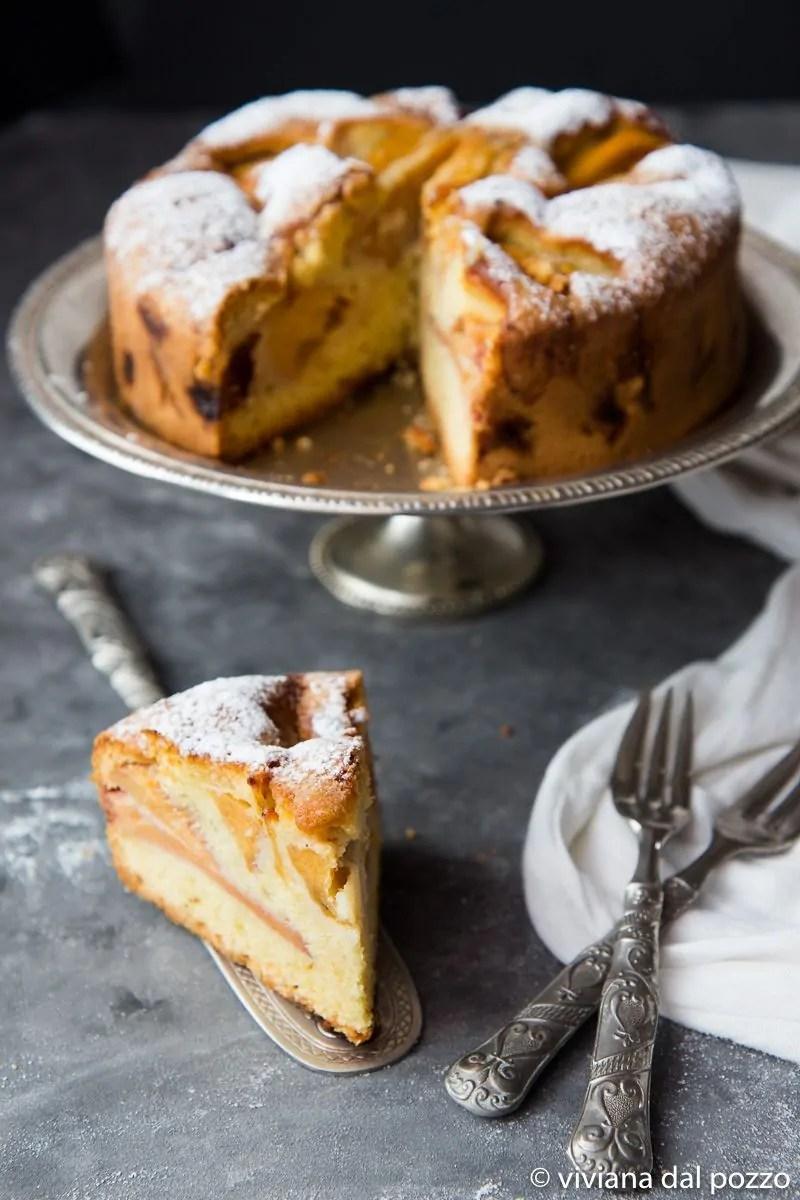 fetta di torta con cachi vaniglia