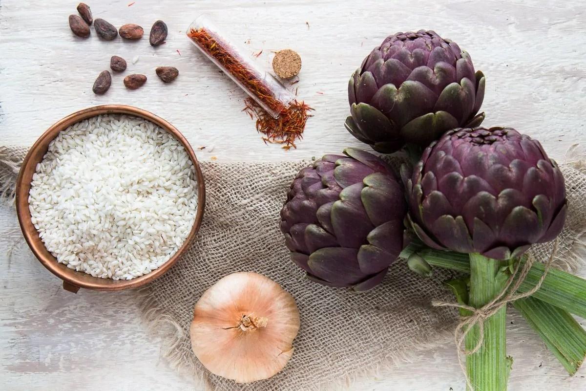 ingredienti risotto allo zafferano
