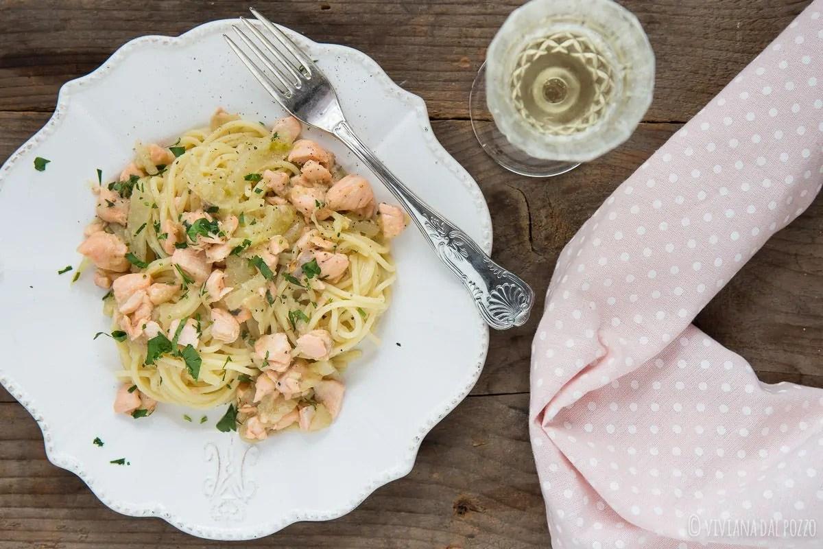 Pasta con salmone fresco e finocchio