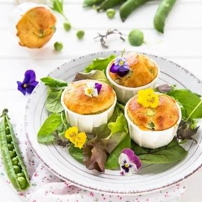 muffin salati con piselli