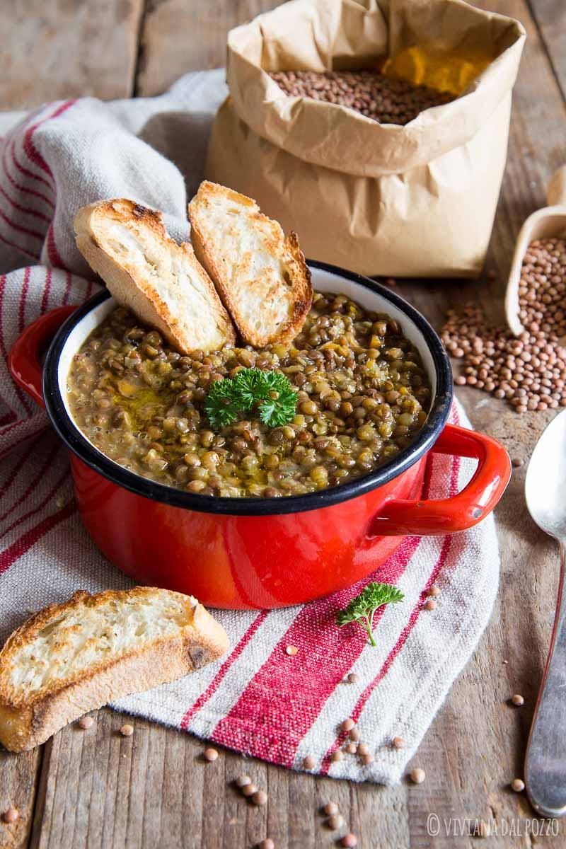 lenticchie in umido a zuppa