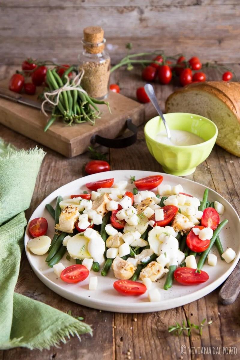 insalata con fagiolini e pollo