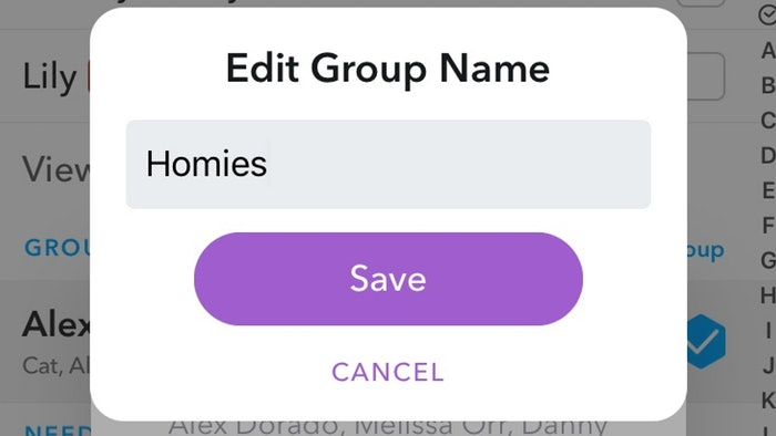 How to kick someone out of your snapchat group chat