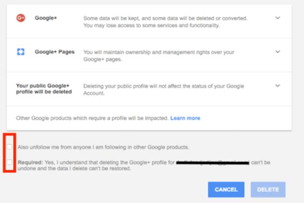google plus settings