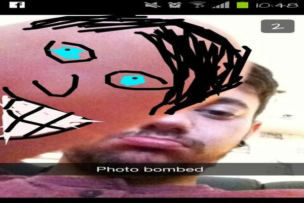 photo bombed