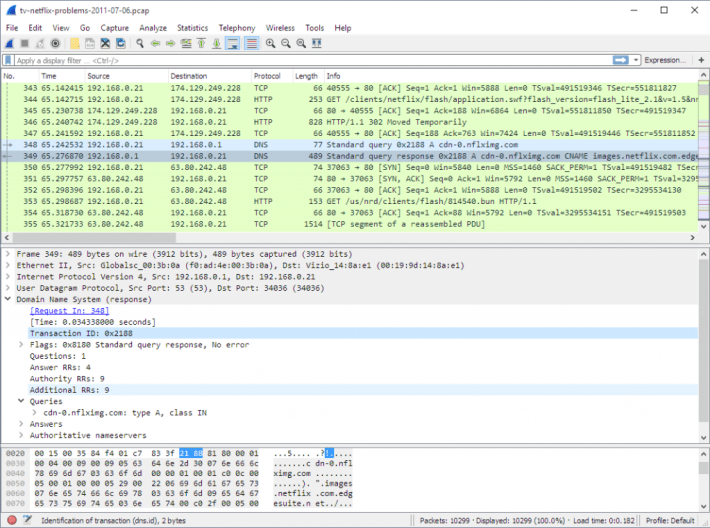 wireshark packet sniffer
