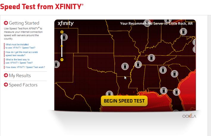 speed test from xfinity